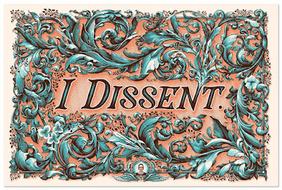 "Ruth Bader Ginsburg ""I Dissent"" Art Print & Fundraiser by N.C. Winters"