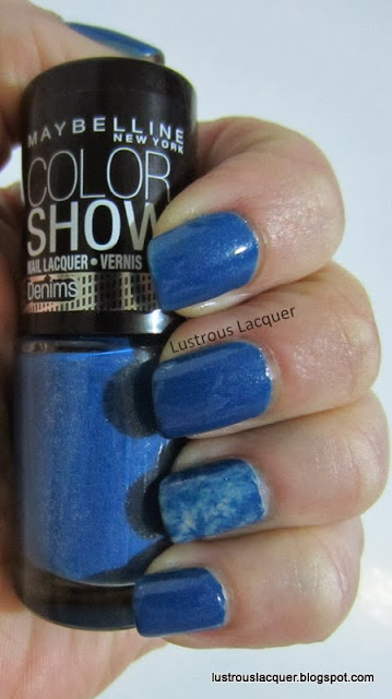 Maybelline Color Show Denim Dash, Seran wrap manicure