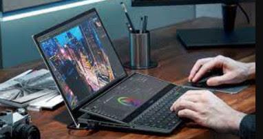 layar Asus ZenBook Pro Duo 15 OLED (UX582)