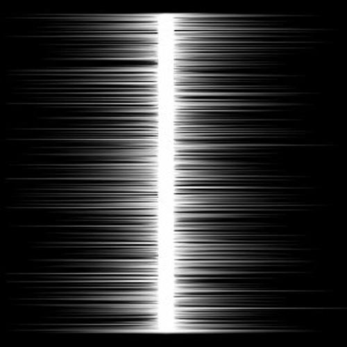 Baktıkça siyah bir arkaplan üzerindeki beyaz çizginin genişlediği yanılgısı oluşturan resim