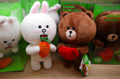 Brown and Cony Plush Toys at Line Store Harajuku Shibuya Japan