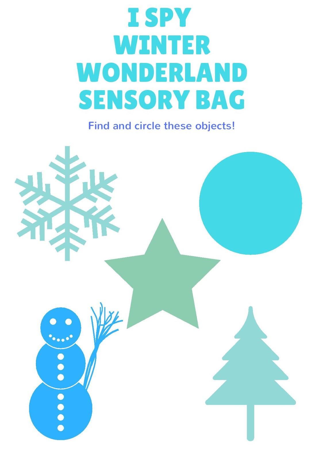Life With 4 Boys I Spy Winter Sensory Bag And Free Printable Craft