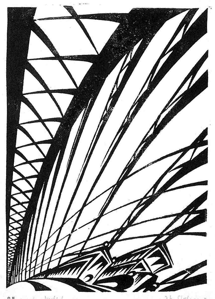 an Otto Heinrich Strohmeyer woodcut