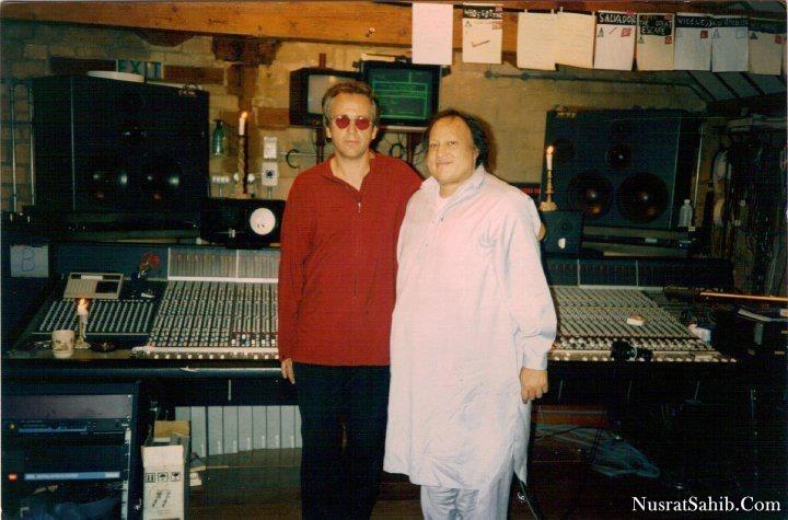 Ustad Nusrat Fateh Ali Khan Sir with Peter Gabriel | NusratSahib.Com