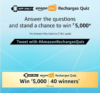 Amazon pay Recharges quiz, Amazon Pay Recharge Quiz Answers