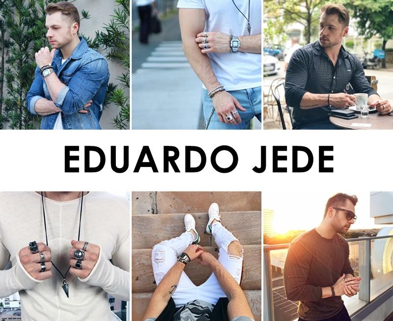 Enquanto eu estava no Instagram hoje procurando as fotos de cada blogueiro para escolher, acabei esbarrando no perfil do Eduardo Jede e fiquei apaixonado logo de cara. As fotos dele são exatamente do jeito que eu gosto e o perfil dele é como eu quero ter o meu. Ele tem um estilo eclético o que me faz sentir uma afinidade com ele porque também me sinto assim. É um dos blogueiros que entrou pra minha lista de favoritos desde hoje.  Instagram: instagram.com/eduardojede Blog: www.homemvaidoso.com