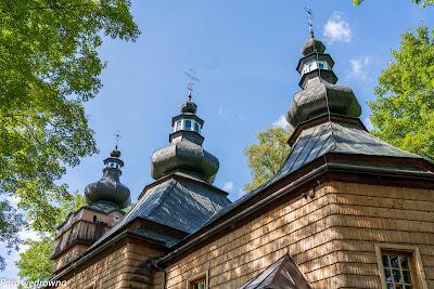 Cerkiew w Hańczowej: zwieńczenia wież
