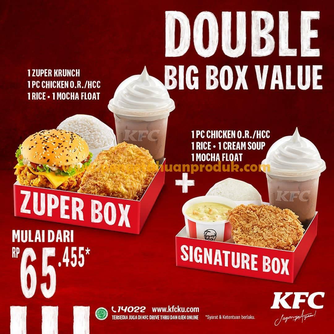 Promo KFC Double Big Box Value! Harga mulai dari Rp 65.455