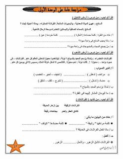 مذكرة لغة عربية رائعة للصف الثالث الابتدائي الترم الثاني للاستاذة امنية وجدي