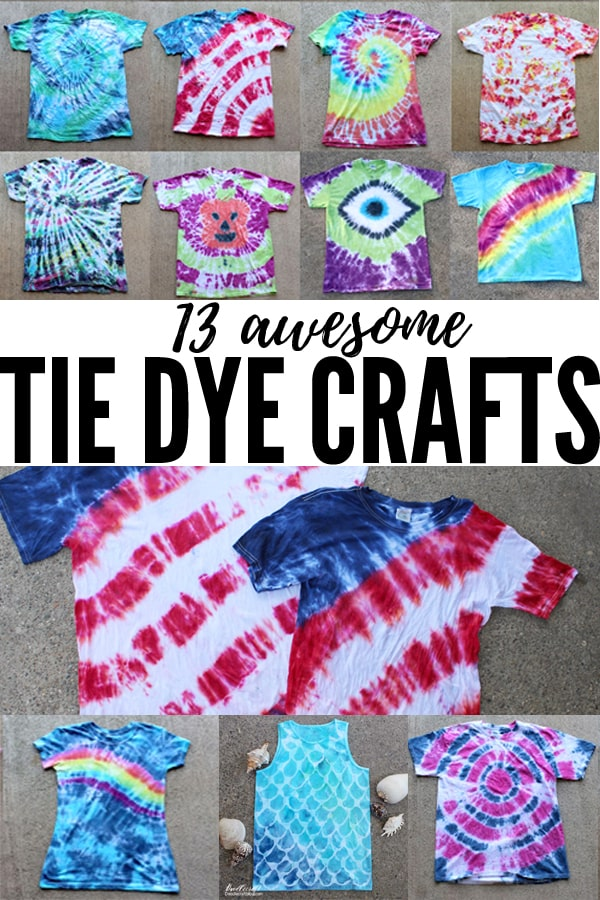 Tie Dye instructions for dying shirts, totes, shoes, scarves and other fun tutorials.