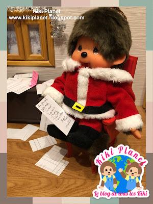 kiki monchhichi sandaclaus père noël Christmas lettre cute kawai