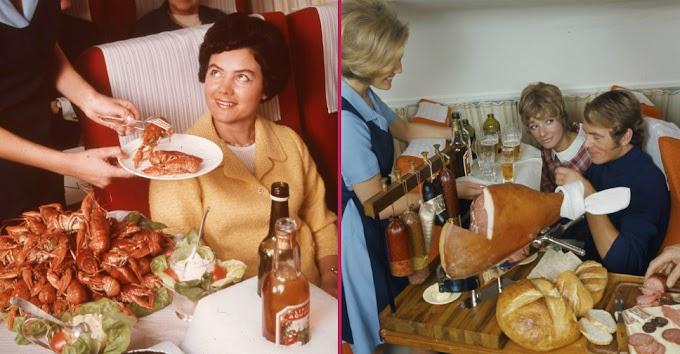 50 Yıl Önce Uçaklarda İkram Edilen Yemekleri Görünce Şaşıcaksınız