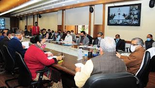 प्रधानमंत्री जन विकास कार्यक्रम के अन्तर्गत मुख्य सचिव की अध्यक्षता में गठित राज्य स्तरीय समिति की बैठक आयोजित