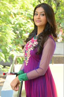 Actress Pooja Jhaveri Latest Stills in Purple Salwar Kameezt at Dwaraka Success Meet  0145.JPG