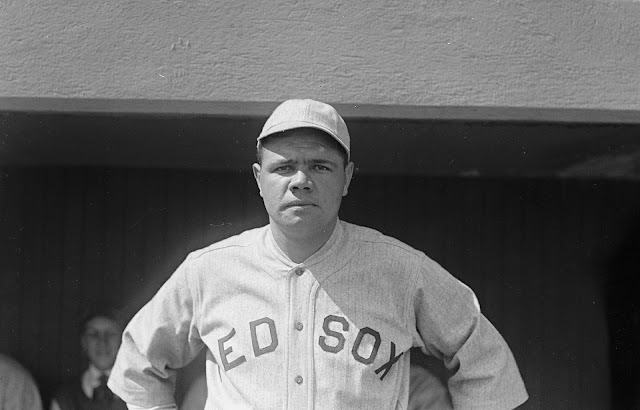 Babe Ruth, very popular baseball player from the early twentieth century.