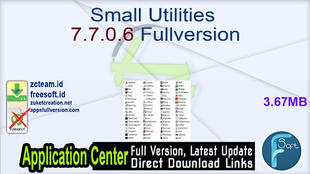 Small Utilities 7.7.0.6 Fullversion