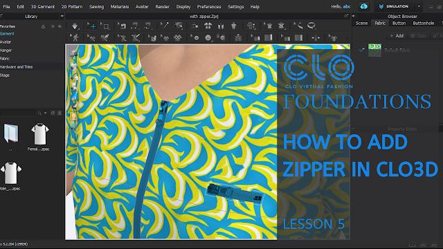 How To Zipper in CLO3D