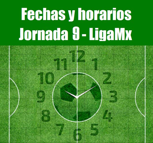 Calendario del futbol mexicano para la jornada 9