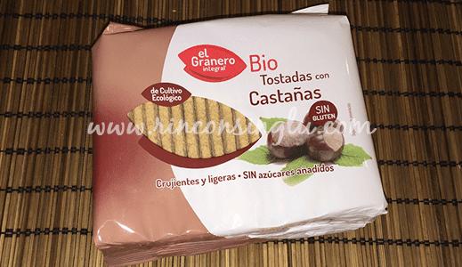 tostadas con castaña sin gluten