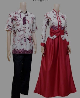 Model baju batik couple minimalis