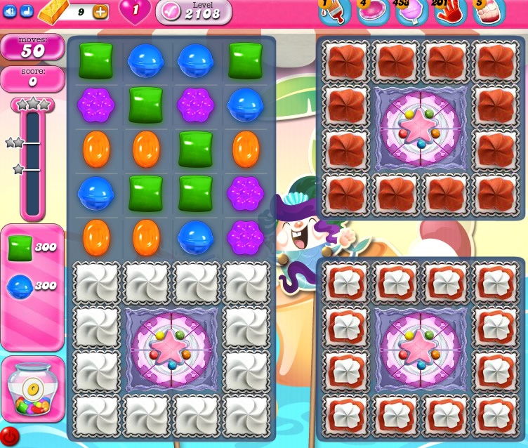 Candy Crush Saga level 2108