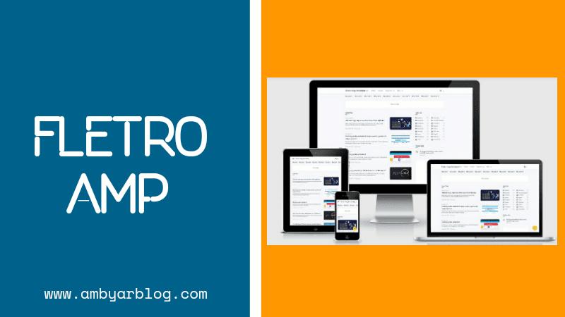 Template Blogger Fletro AMP Premium Gratis