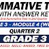 GRADE 3 SUMMATIVE TEST with Answer Key (Modules 3-4) 2ND QUARTER