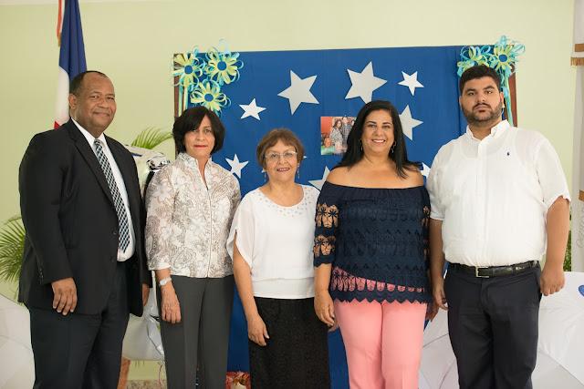 Principal -Julio Cesar Acosta, Onelia Aybar, Ruth Claros Kartchner, Miguelina Roman  y Andres Avelino Abreu Roman