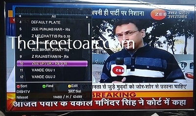 Zee UP / UK Channel Temp FTA from SES 12 (Dish TV)