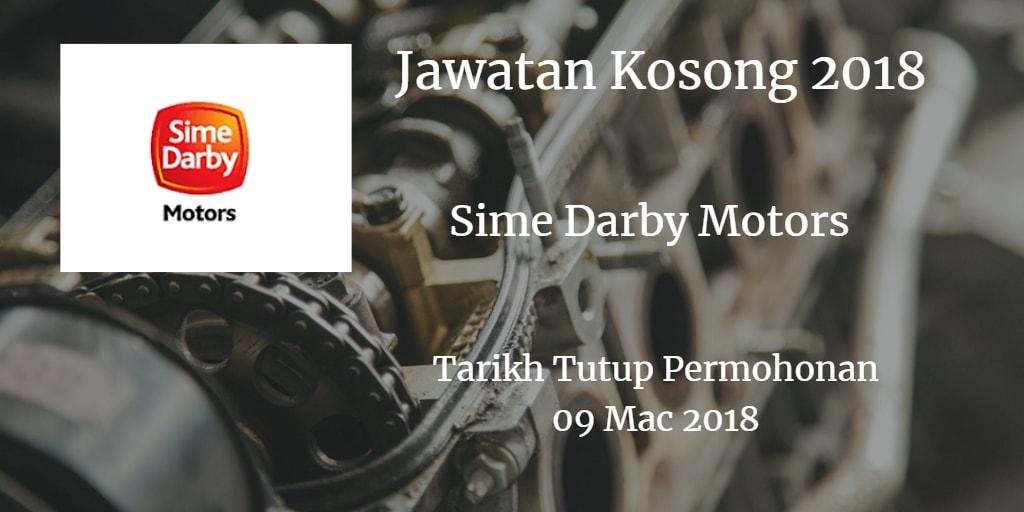 Jawatan Kosong Sime Darby Motors 09 Mac 2018