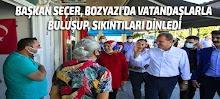 Başkan Seçer, Bozyazı'da Vatandaşlarla Buluşup, Sıkıntıları Dinledi