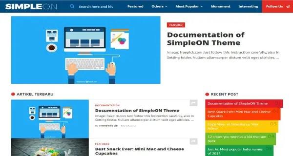 download template blog responsive gratis