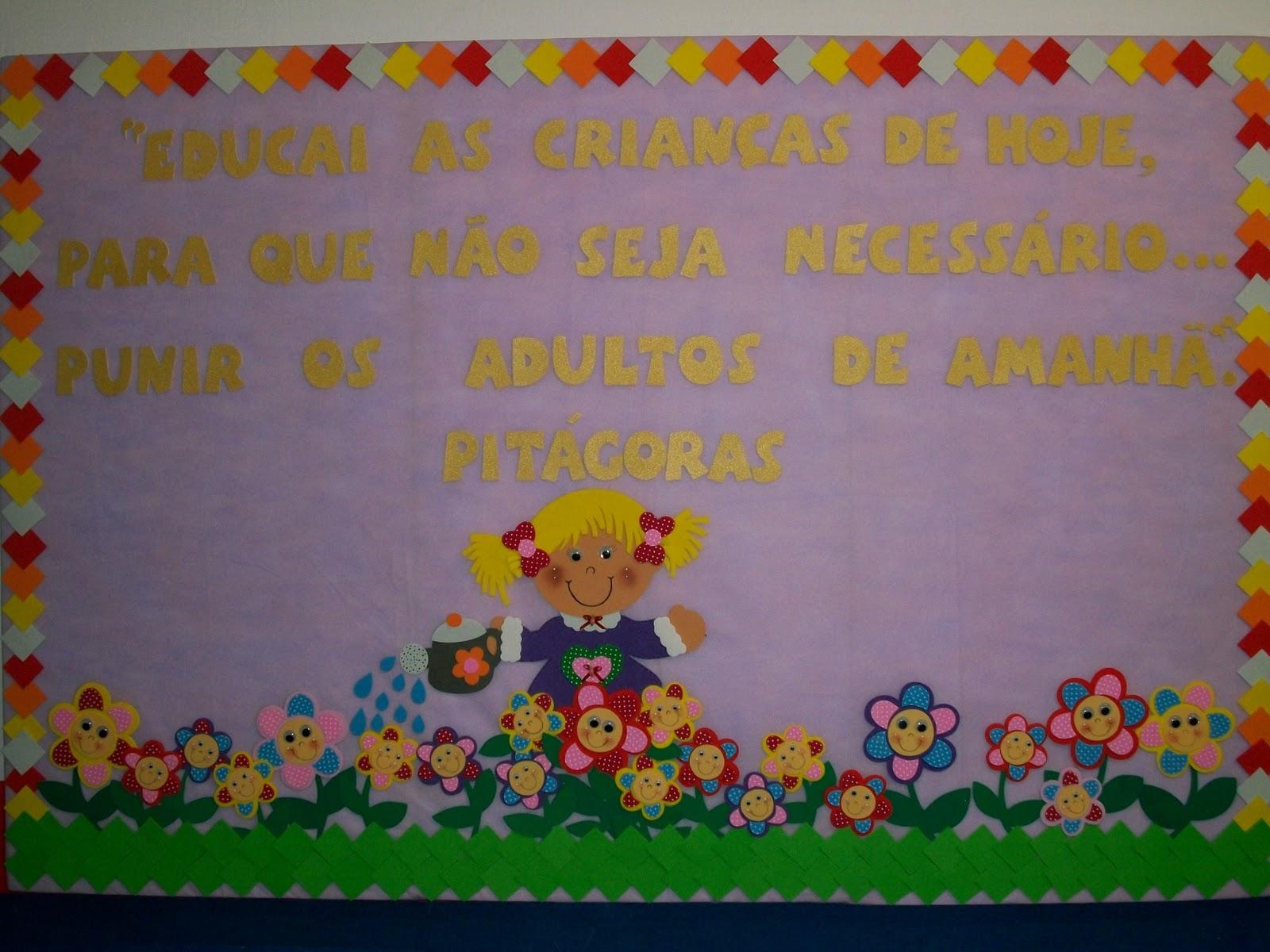 Jardim colorido da tia suh sala de aula pain is de primavera for Bordas para mural