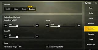 Cara Setting Sensitivitas PUBG Mobile Ala Pro Player