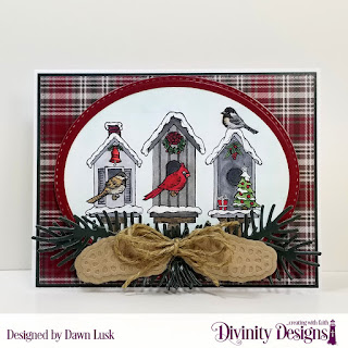 Stamp Set: Christmas Birdhouses, Custom Dies: Pinecones & Pine Branches, Double Stitched Ovals, Oval Stitched Rows, Pierced Rectangles, Paper Collection: Rustic Christmas