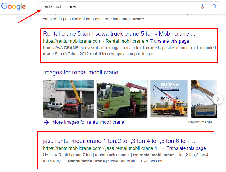 rental mobil crane