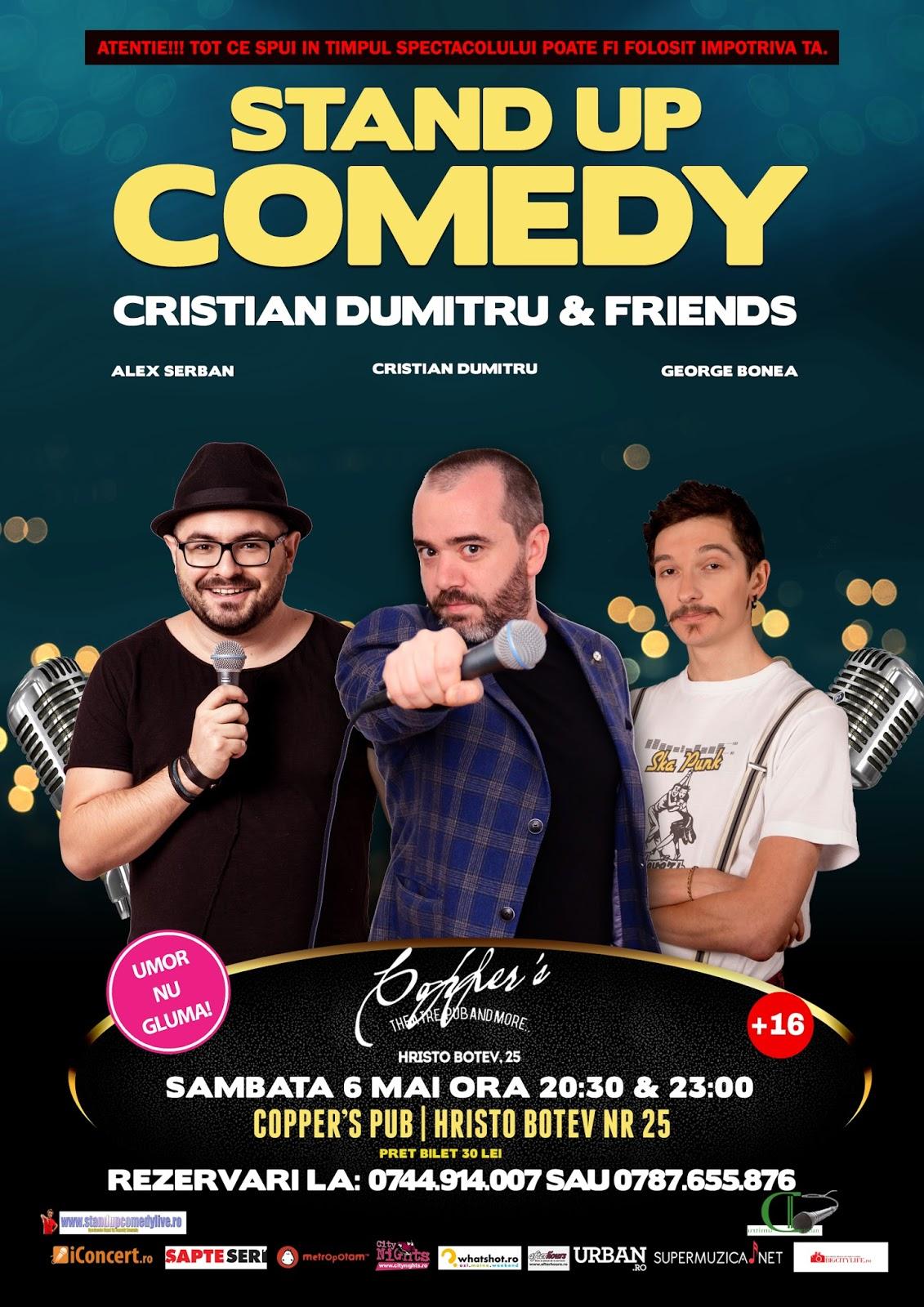 Stand-Up Comedy Sambata 6 Mai Bucuresti |Doua Show-uri|