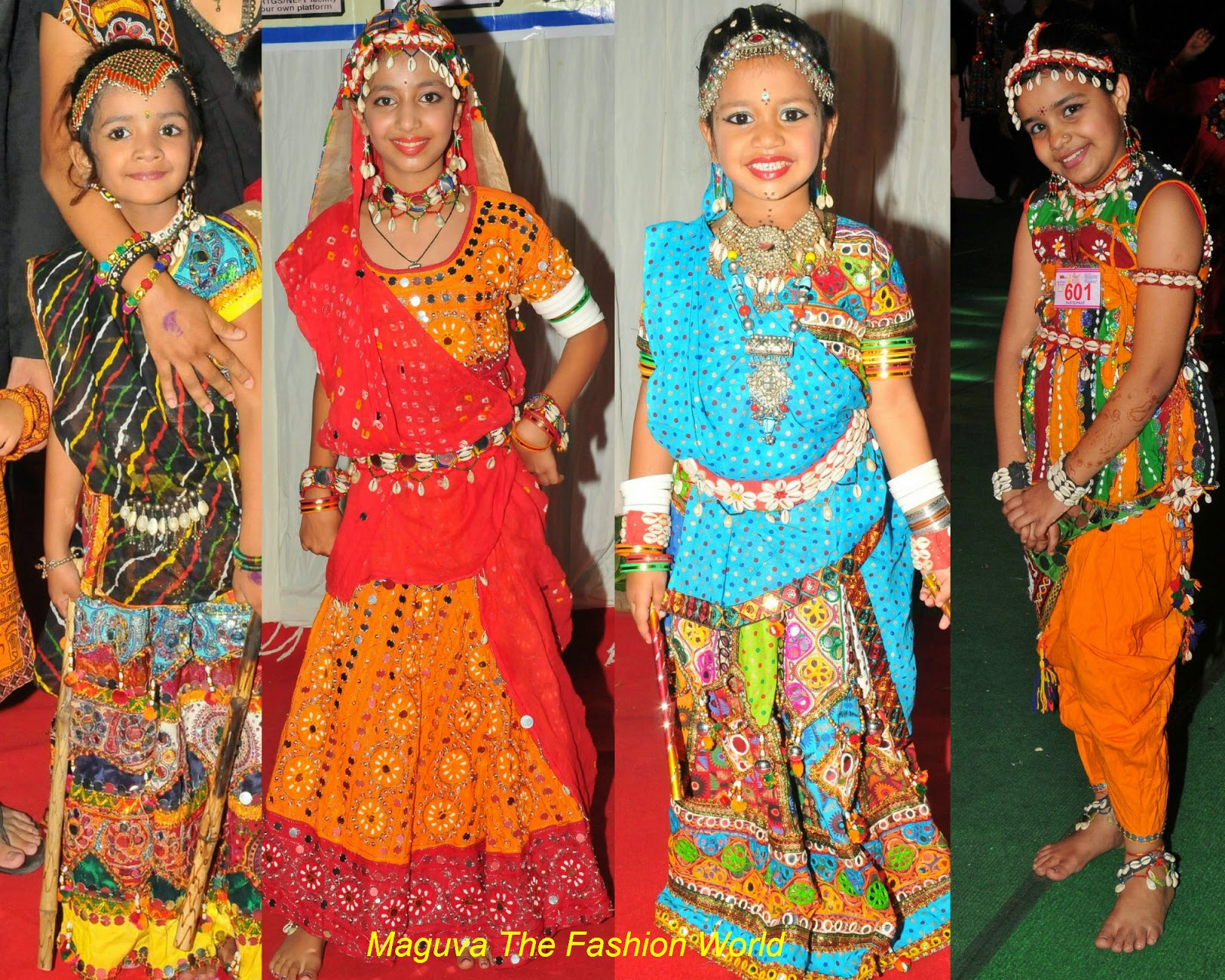 Kids in cute dandiya costumes - Maguva The Fashion World