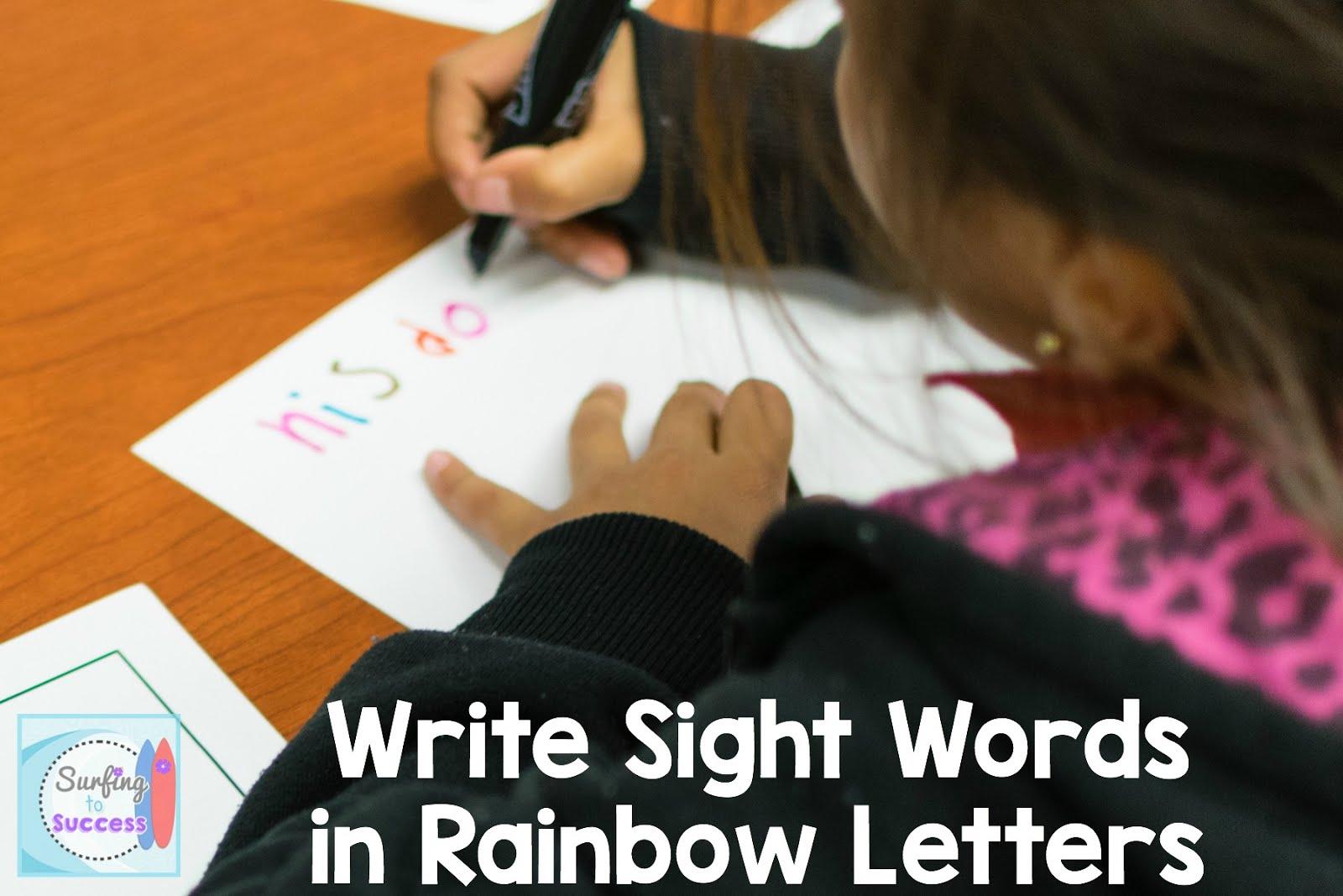 7 Ways To Practice Sight Words