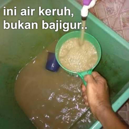 air keruh, air bersih, air minum, air sehat
