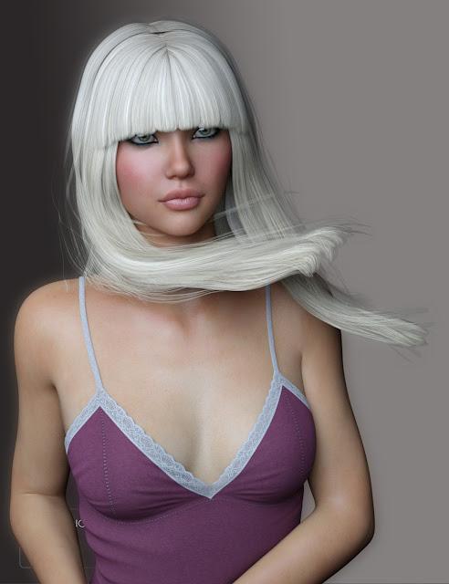 Nita Hair for Genesis 3 Female