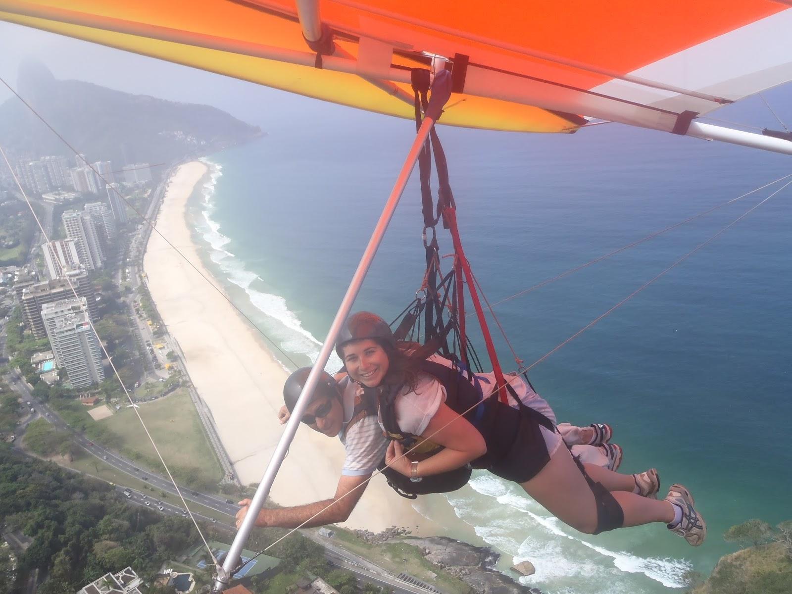 Hang gliding over Rio de Janeiro, Brazil