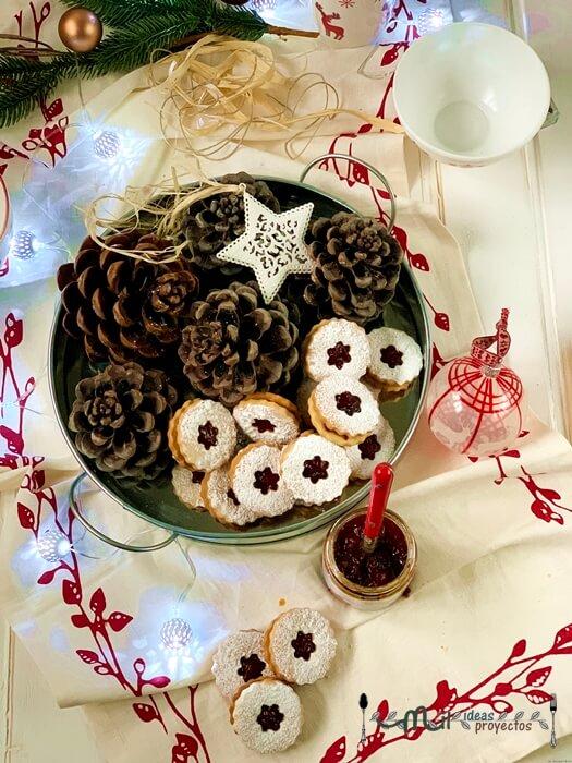 resultado final galletas linzer