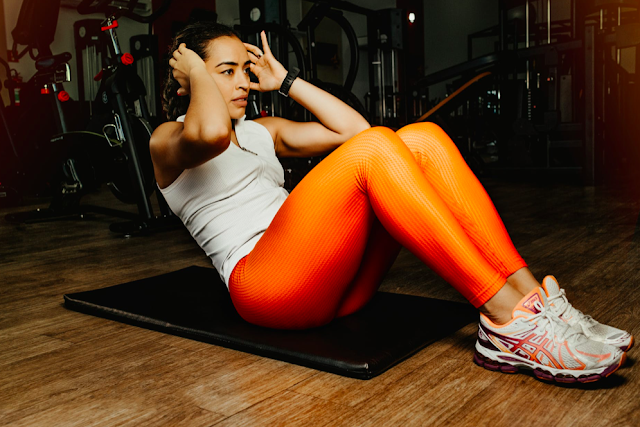Orange Gym Leggings