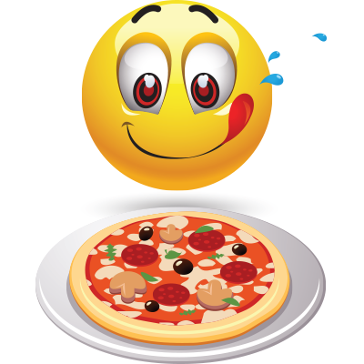 Pizza Night Smiley Emoticon