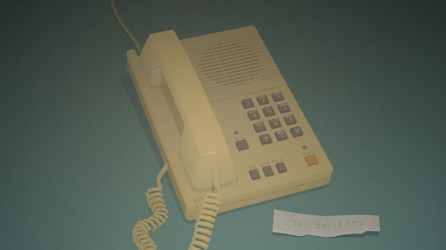 Screenshot of the phone in the Interlude between Act III and IV in Kentucky Route Zero