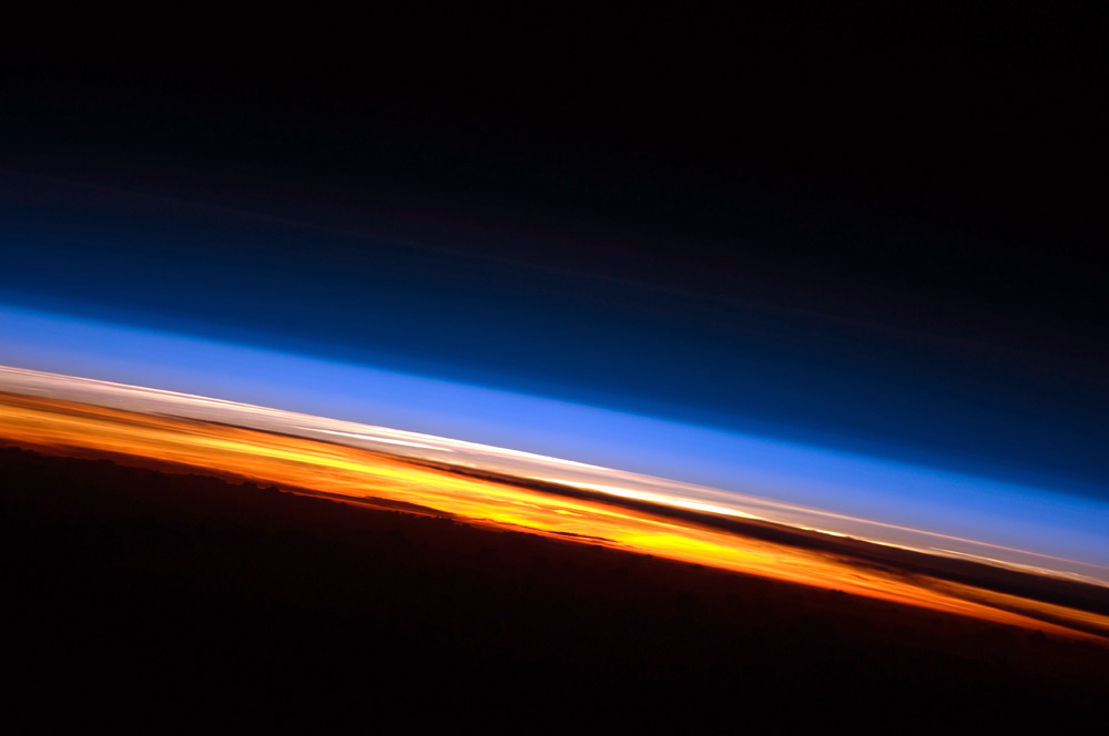 Earth's sunrise from the space station