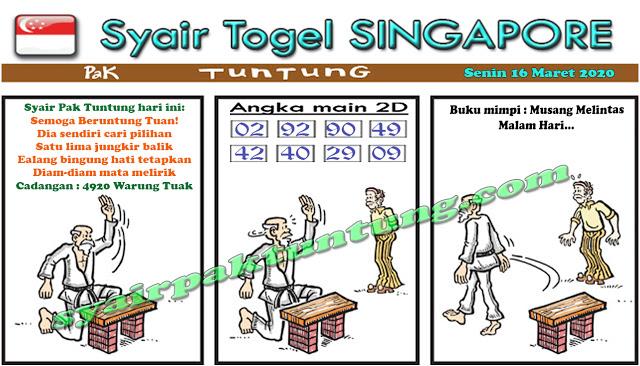 Prediksi Togel Singapura Senin 16 Maret 2020 - Prediksi Pak Tuntung