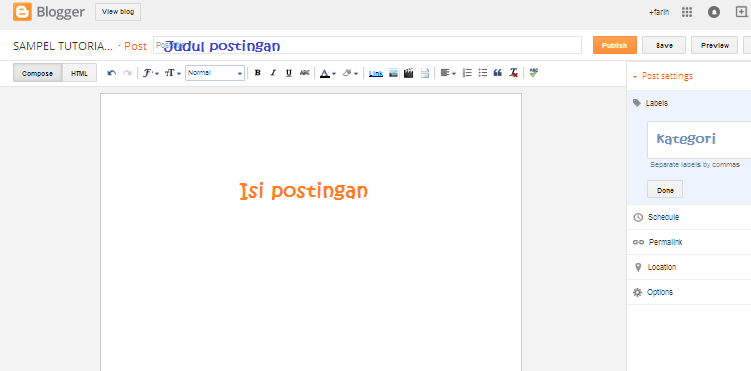 Membuat Postingan di Blog, Very Easy