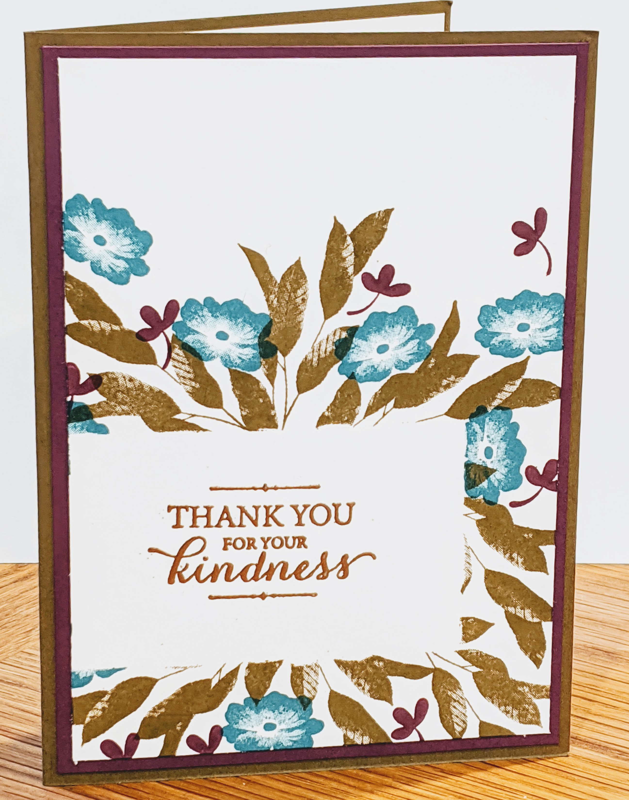 Layered with Kindness stamp set; masking technique, heat emboss